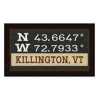 Killington, Vermont Coordinates Framed Giclee Wall Art