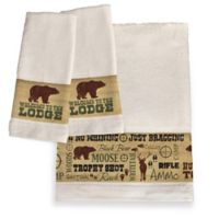 "Laural Home® ""Welcome to the Lodge"" Hand Towels (Set of 2)"