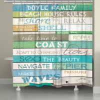 "Laural Home ""Ocean Rules"" Shower Curtain"