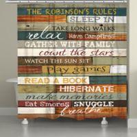 "Laural Home® ""Cabin Rules"" Shower Curtain"