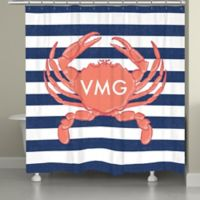Laural Home® Crab Stripe Shower Curtain