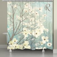 Laural Home® Dogwood Blossoms Shower Curtain in Blue