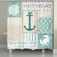 Laural Home® Coastal Retreat Shower Curtain in Blue/Green