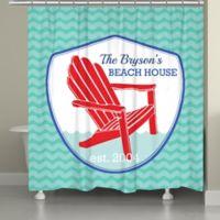 Laural Home® Adirondack Beach Badge Shower Curtain