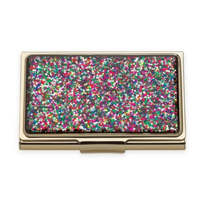 Buy card holder from bed bath beyond kate spade new york simply sparkling glitter card holder in multicolor reheart Gallery