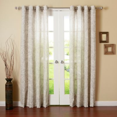 Decorinnovation Paisley Watercolor 84 Inch Grommet Top Window Curtain Panel  Pair In Grey