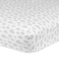 Gerber® Clouds Fitted Crib Sheet in White/Grey
