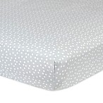 Gerber® Dots Fitted Crib Sheet in Grey/White
