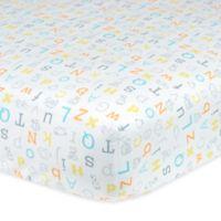 Gerber® Alphabet Fitted Crib Sheet in Yellow/Orange/Grey