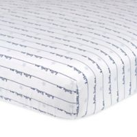 """Gerber® """"Hello Little One"""" Fitted Crib Sheet in Blue/Grey"""