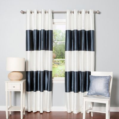Buy Navy Stripe Curtains From Bed Bath Amp Beyond
