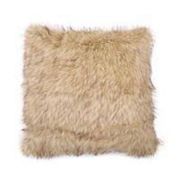 Cozy Lion Faux Fur European Pillow Sham in Gold