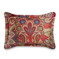 Cozy Regent Paisley Standard Pillow Sham in Red