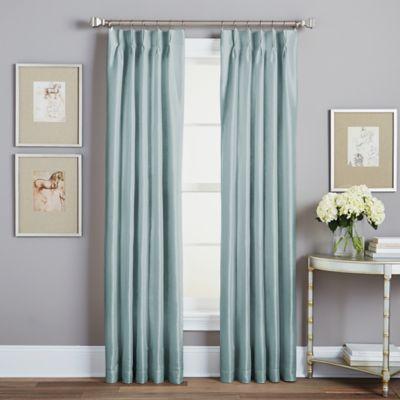 Spellbound Pinch Pleat 108 Inch Rod Pocket Lined Window Curtain Panel In Seafoam
