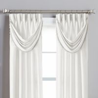 Spellbound Pinch-Pleat Crescent Valance in White