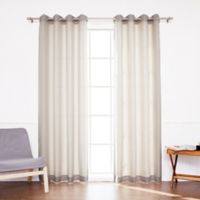 Decorinnovation Oxford 96-Inch Grommet Top Outdoor Curtain Panel Pair in Beige