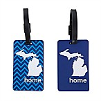 Latitude 40°N™ Michigan State Love Luggage Tags (Set of 2)