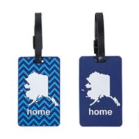 Latitude 40°N™ Alaska State Love Luggage Tags (Set of 2)