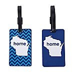 Latitude 40°N™ Wisconsin State Love Luggage Tags (Set of 2)