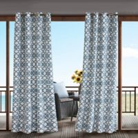 Madison Park Daven 84-Inch 3M Scotchgard™ Grommet Top Outdoor Curtain Panel in Navy