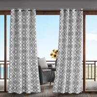 Madison Park Daven 95-Inch 3M Scotchgard™ Grommet Top Outdoor Curtain Panel in Grey