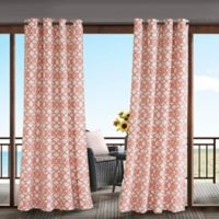 Madison Park Daven 84-Inch 3M Scotchgard™ Grommet Top Outdoor Curtain Panel in Coral
