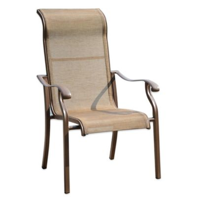 Island Breeze Panama Jack High Back Sling Armchair In Espresso