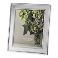 Vera Wang Wedgwood® Grosgrain 8-Inch x 10-Inch Metal Frame