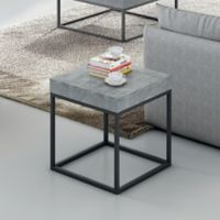 Tema Petra Side Table in Black