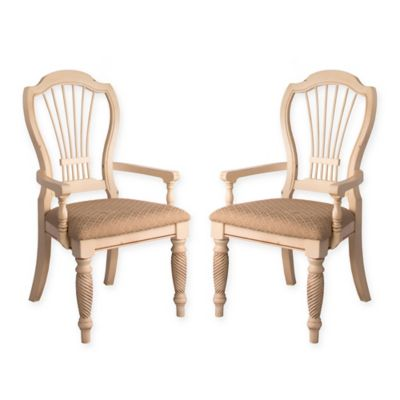 Hillsdale Wilshire Dining Arm Chairs In Black (Set Of 2)