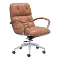 Zuo® Avenue Office Chair in Vintage Coffee