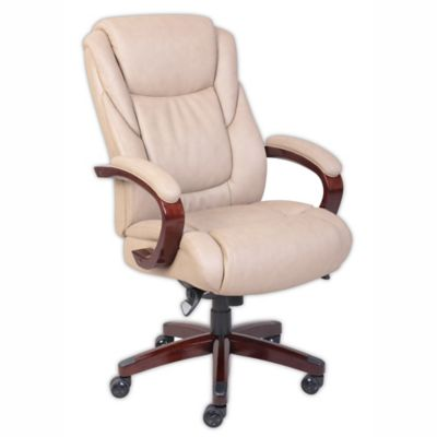 La Z Boy® Miramar ComfortCore® Traditions Executive Office Chair In Taupe