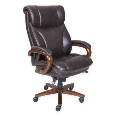 La-Z-Boy Trafford Big & Tall Leather Executive Office Chair in Brown