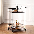 Richland Metal and Wooden Bar Cart in Black