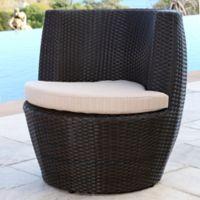Abbyson Living® Newport Outdoor Wicker Bistro Chair in Espresso