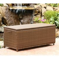 Abbyson Living® Palermo Outdoor Wicker Storage Ottoman in Brown