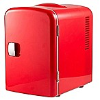 Gourmia® Portable 6-Can Mini Fridge Cooler and Warmer in Red