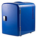 Gourmia® Portable 6-Can Mini Fridge Cooler and Warmer in Blue