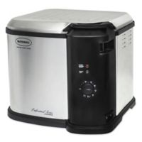 Masterbuilt Butterball Indoor Electric Stainless Steel Turkey Fryer in Black/Silver