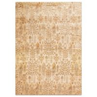 Loloi Rugs Anastasia Leaves 2-Foot 7-Inch x 4-Inch Accent Rug in Ivory/Gold