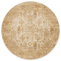 Loloi Rugs Anastasia Leaves 5-Foot 3-Inch Round Area Rug in Ivory/Gold