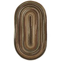 Capel Rugs Bangor 3-Foot x 5-Foot Braided Oval Rug in Green