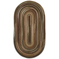 Capel Rugs Bangor 5-Foot x 8-Foot Braided Oval Rug in Green