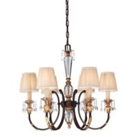 Metropolitan Home Bella Cristallo 6-Light Chandelier in French Bronze