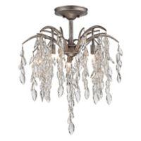 Metropolitan Bella Flora 5-Light Semi-Flush Mount Ceiling Fixture in Silver Mist