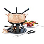 Swissmar Biel 11-Piece Copper Fondue Set