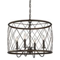Quoizel® Dury Medium 4-Light Pendant Ceiling Fixture in Palladian Bronze