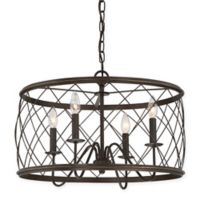 Quoizel® Dury Small 4-Light Pendant Ceiling Fixture in Palladian Bronze