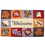J&M Home Fashions 18-Inch x 30-Inch Harvest Welcome Icons Door Mat