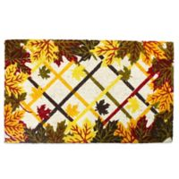 J&M Home Fashions 18-Inch x 30-Inch Lattice & Leaves Door Mat